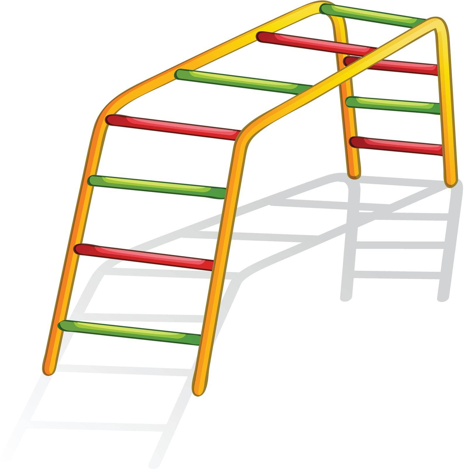 Isolated illustration of play equipment - monkey bars