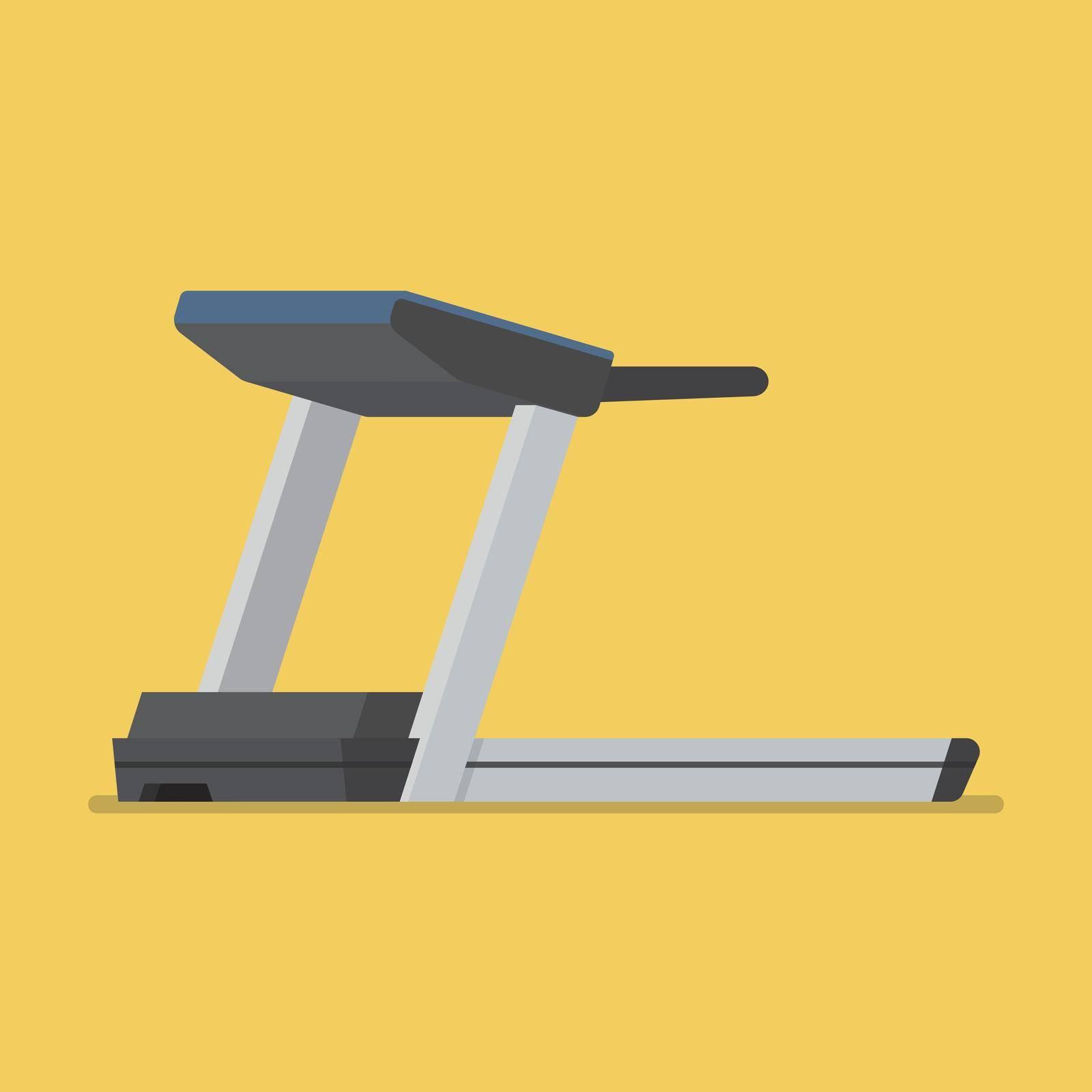 Treadmill sport equipment. Flat style vector illustration