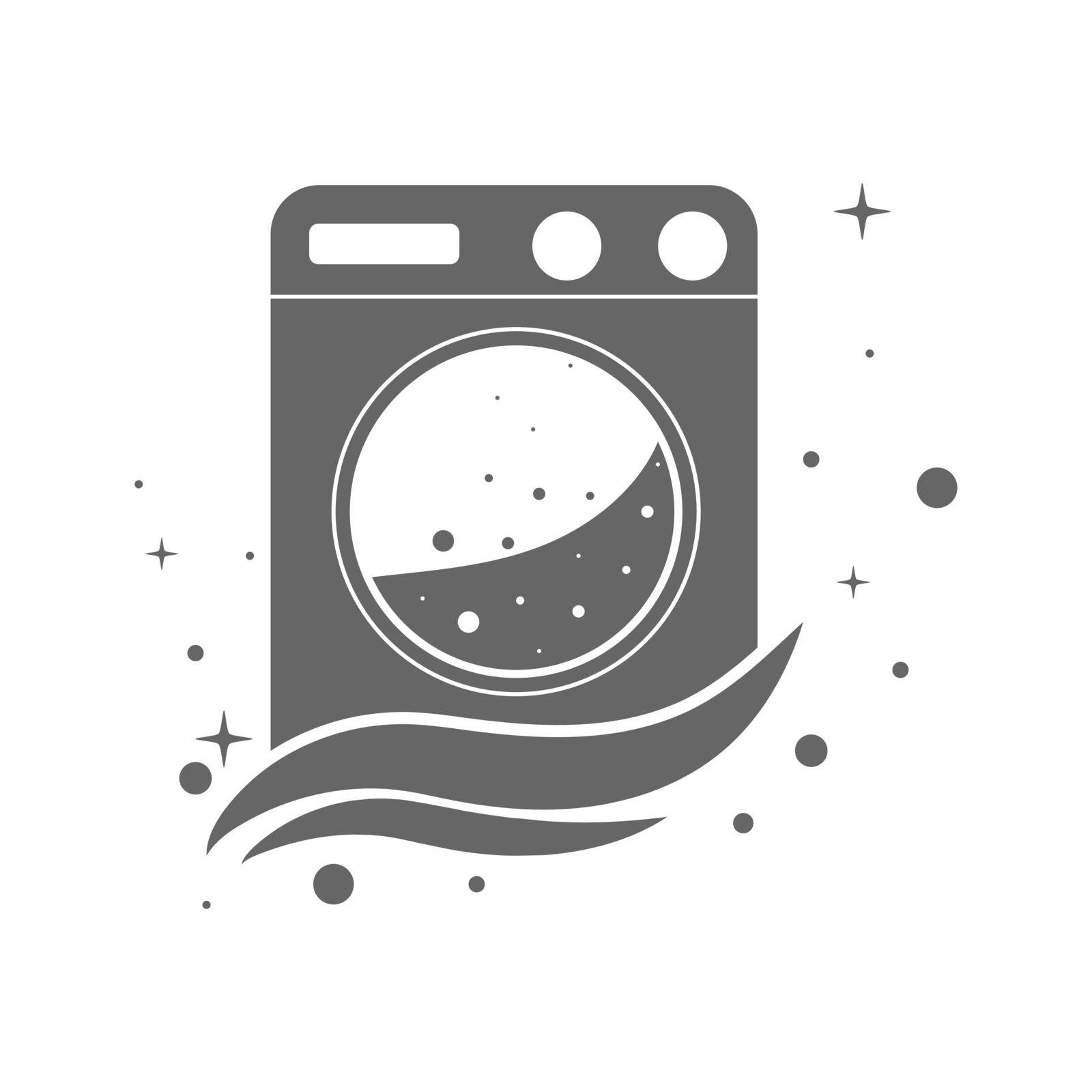 template for a laundry or dry cleaning logo. Blank for a logo, brand, label by Grommik