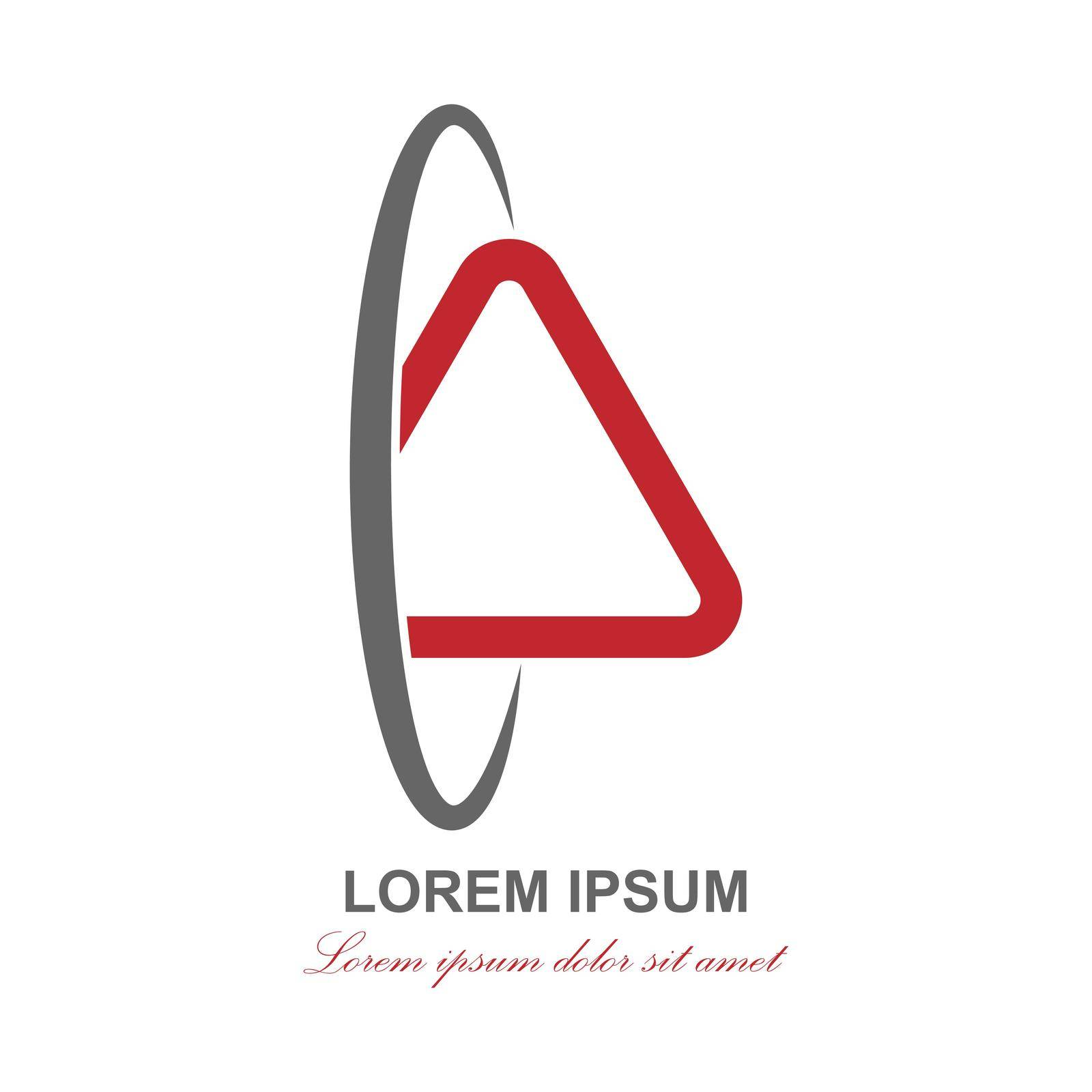 Abstract logo for business, company, social communications. Blank for a logo, brand, label by Grommik