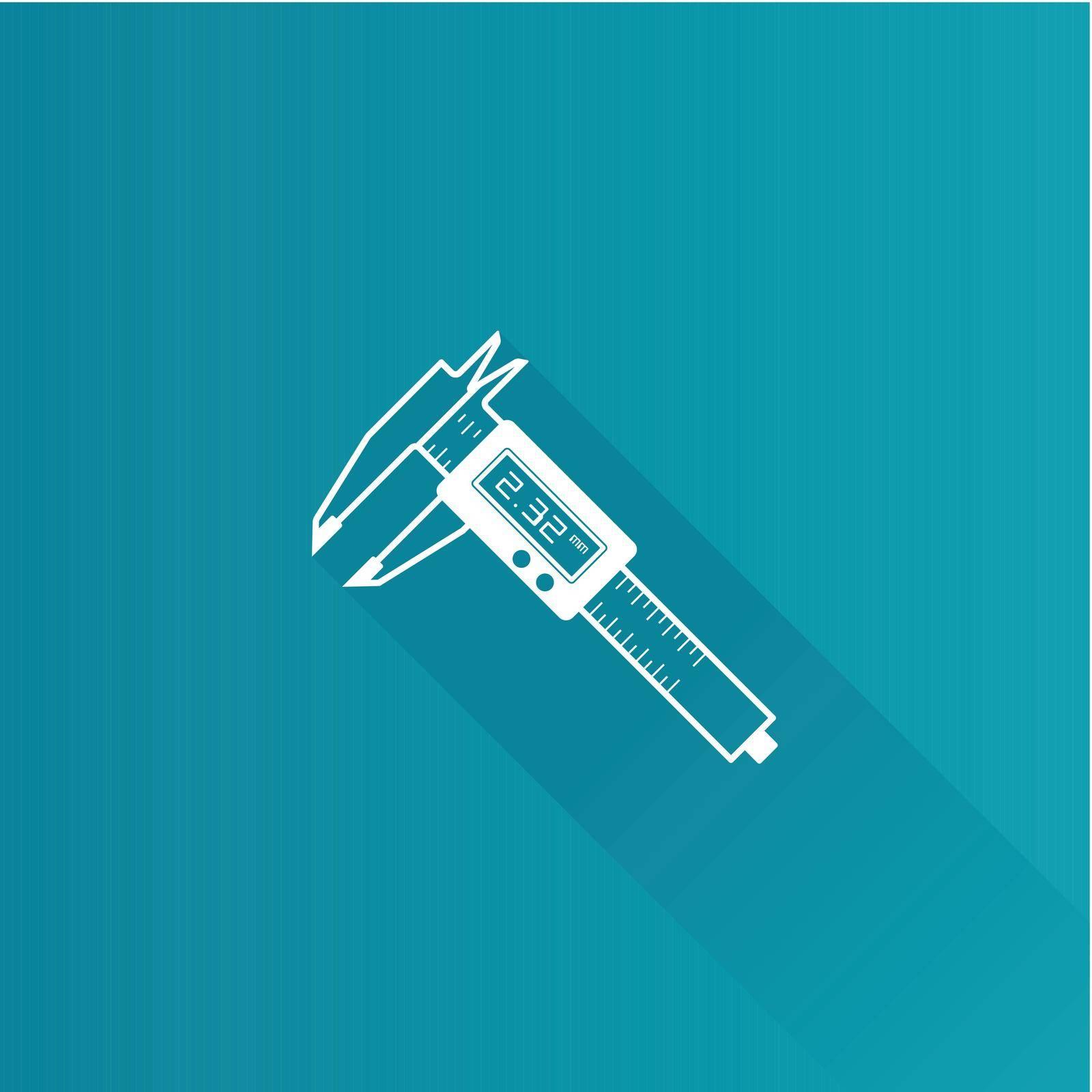 Digital caliper icon in Metro user interface color style. Instrument equipment measurement